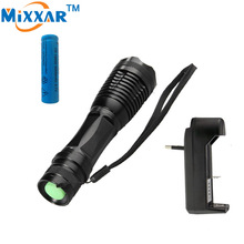 RUZK30 LED Rechargeable Flashlight Lamp e17 CREE XM-L T6 4000 Lumens High Power Focus Zoomable torch 18650 Battery With Charger