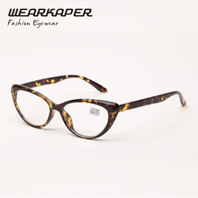 WEARKAPER Cat Eye Spring Hinges Plastic Reading Glasses Oculos de grau + 1.0 1.5 2.0 2.5 3 3.5 4