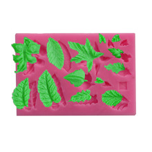 3D different Leaves Shapes Fondant Soap Silicone Mold Baking Forms Sugarcraft Cake Decoration Tools chocolate gumpaste mould(China)