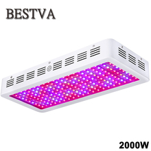 BestVA 2000W LED grow light full spectrum double chips grow lamps for indoor plants grow light hydroponics greenhouse grow tent(China)