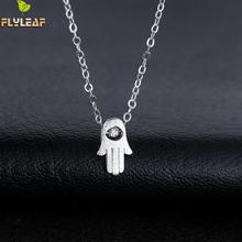 925 Sterling Silver Hamsa Cubic Zirconia Diamonds Necklaces & Pendants For Women Fashion Girl Hypoallergenic Jewelry Accessories