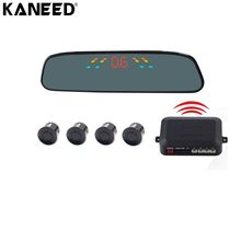 KANEED Car Parking Sensor with LCD Display Reverse Buzzer Sensors Automatic Wireless Alarm Assistance System with 4 Rear Radar(China)