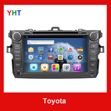 Free Rear view camera 6.0 System 2 Din Toiyota DVD Android GPS Navigation Bluetooth Corolla WiFi BT PC Car Stereo DVD Player()