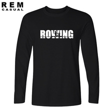 2016 new fashion rowing arrive t-shirt cotton tops tees long sleeve boy casual homme tshirt t shirt plus(China)