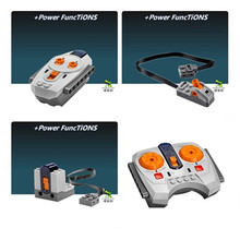 Technic Mechanical Motor Rechargeable Battery Box IR Remote Receiver LED Light Block Bricks Components Compatible With Legoingly(China)