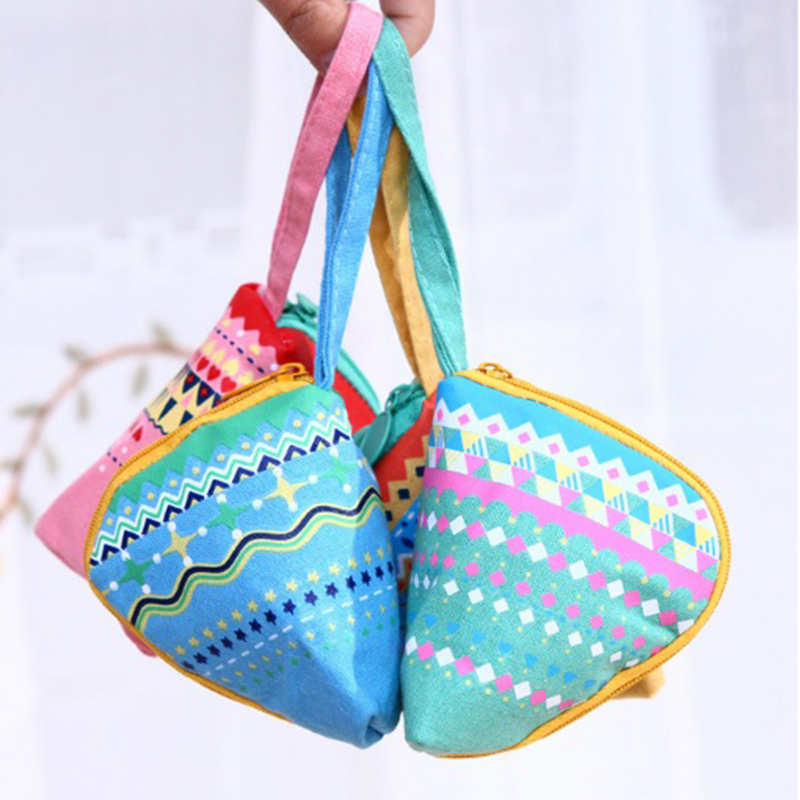 Wholesale 4colors ladies canvas zong zi coin purses fashion coin bag zipper wallet rice dumplings coin pouch free shipping<br><br>Aliexpress
