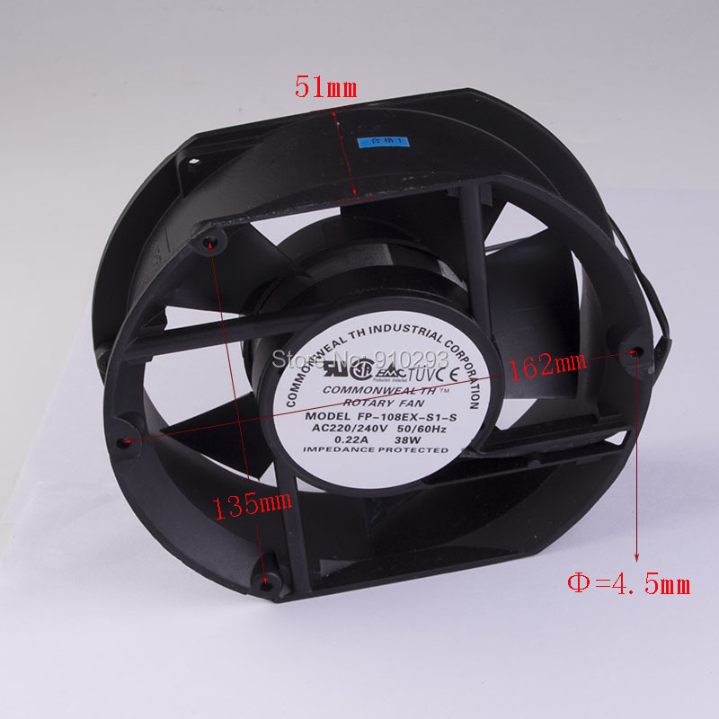 Rotary fan ventilation cooling mute AC220V 240V <br>
