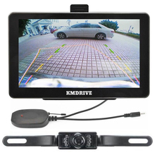 "KMDRIVE New 7"" Car GPS Navigation+Wireless rearview Camera 128M/8G Bluetooth Hands free AV-IN"