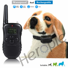 Heropie 300 Meters Rechargeable And Waterpfoof Remote Electric Shock Anti-bark Pet Dog Training Collar With LCD Display New(China)