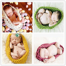 Cute Crochet Wool Sleeping Bags Born Knitted Chunky Cocoon Nest Baby Pod Bowl Great Photography Photo Prop