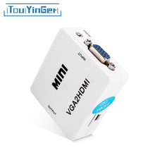 Mini VGA to HDMI Converter Video Audio VGA2HDMI HDMI2VGA AV2HDMI HDMI2AV 1080P Adapter Connector for Projector PC Laptop to HDTV(China)