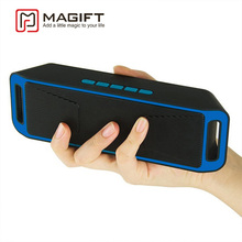 Magift Portable Wireless Bluetooth Speaker High-fidelity Super Bass Stereo Subwoofer Dual Loudspeaker FM Radio USB Mic TF Card(China)