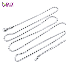diylocket 1PC Ball chain necklace Fit for coin locket pendant Coin frame 4 Colors for choose 316 stainless steel MICH01