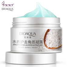 Deep cleansing Aqua Gel Moisturizes Face Treatment BRIGHTENING Exfoliating Facial Scrub ,Smoothen, Beauty Facial Skin Care(China)