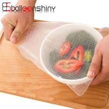 BalleenShiny Multifunctional Silicone Food Seal Cling Film Vacuum Refrigerator Microwave Keep Fresh Preservative Film Bowl Lid(China)