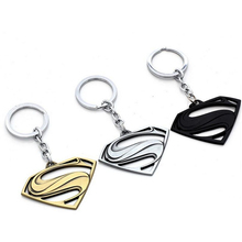 10Pcs/lot 3 Colors Batman Superman Keychains  The Avengers Series Moives Superman Logo Key Ring Holder Jewelry