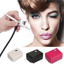 Suelina Airbrush&FREE SHIPPING High Quality Airbrush Compressor Kit Portable Spray /Make Up/ Cake Decorating For Nail Tattoos