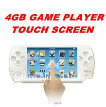 "Free Shipping 4.3"" Touch Screen Ultra-thin 3D Game Player 4GB HDMI Output 16Bit Handheld Games Consoles PMP 10pcs"