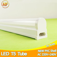 Integrated 10W 6W LED Tube T5 Light 220V 60cm 30cm T5 Led Lamp Wall Home Warm White Fluorescent Lighting T5 neon 1Ft 2Ft 600mm