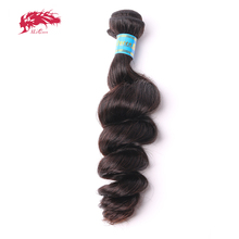 "Ali Queen Hair Products Peruvian Loose Wave Virgin Hair Bundles 1 Piece Natural Color 12"" to 26"" 100% Human Hair Weave(China)"