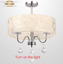 contemporary restaurant dinning room circle led crystal pendant light Dia 40/50cm  E27*3/4 ,Height 53cm cored installation
