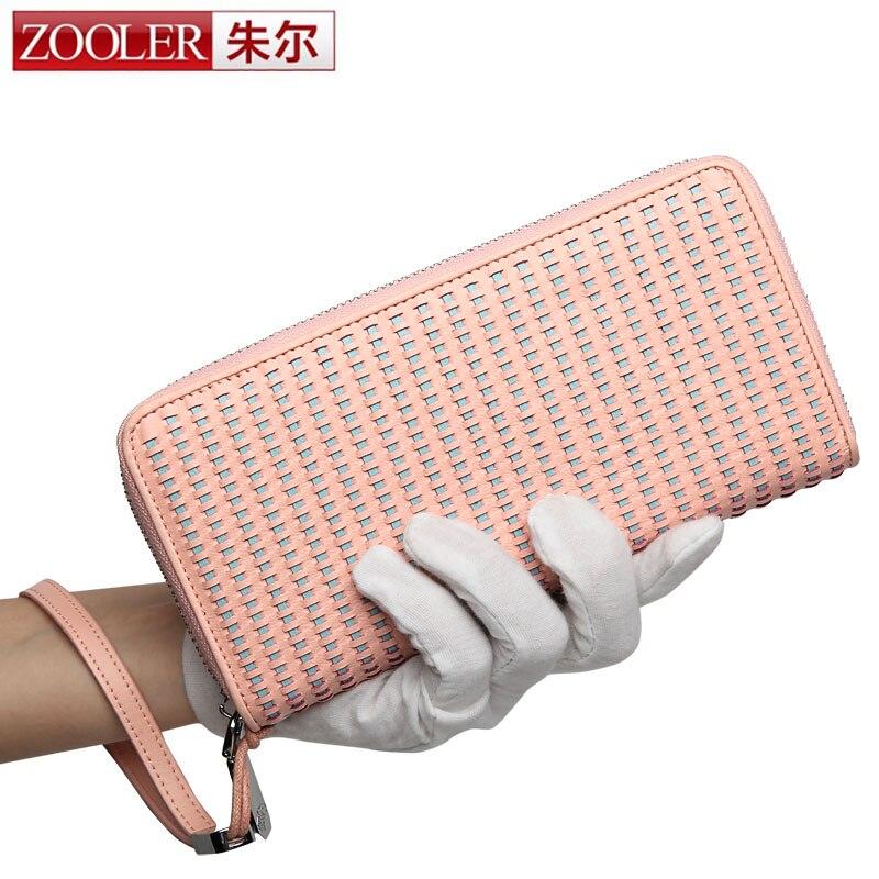 ZOOLER Fashion Knitting Women Purse Women Wallet Zipper Long Female Money Bag Brand Lady Wallet Clutch New Carteira Feminino<br>