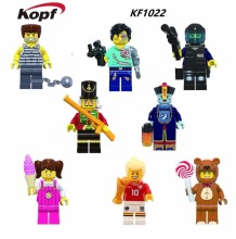 KF1022 Multiclass figures The Three Kingdoms Zombies Fun Series Halloween Teddy Bear Animal Characters Children Gift Toys