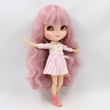 Fortune Days F&D New ICY Doll Same As Factory Blyth doll Nude Doll Joint Body Gray Pink Hair(China)
