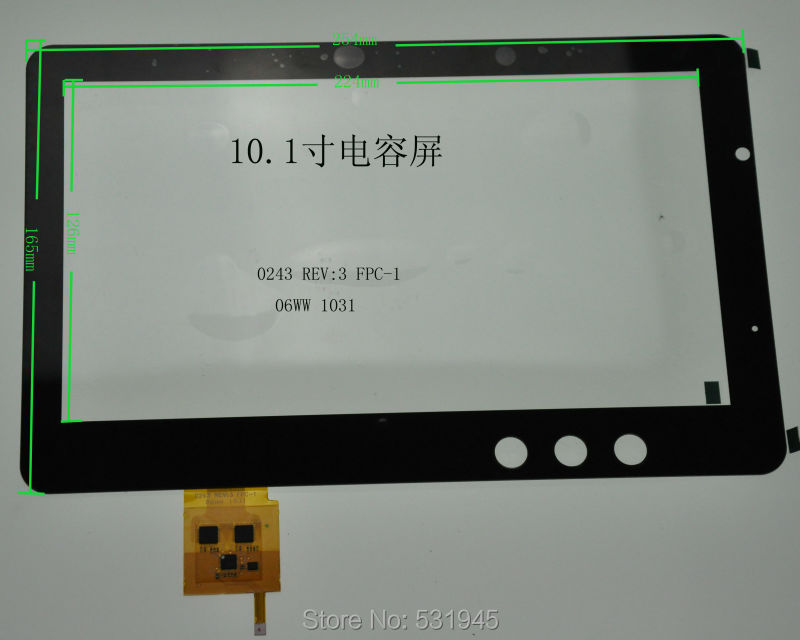 POST 10.1 capacitive touch  MALATA   0243 REV:3  FPC1  06W  1031<br><br>Aliexpress