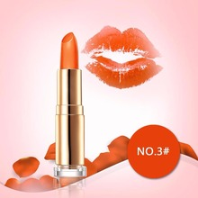 New Girl's Daily Party Date Sexy orange Magic Jelly Lipstick Temperature Color Changing Long Lasting Gloss Moisturizer(China)