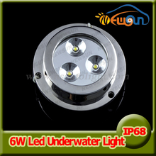 2pcs*3w 6w underwater led boat lights surface mount marine led light 5color underwater lights for yacht fountain pool decoration(China)