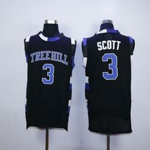 One Tree Hill Lucas Scott #3 Ravens Movie Basketball Jersey All Stitched Black(China)