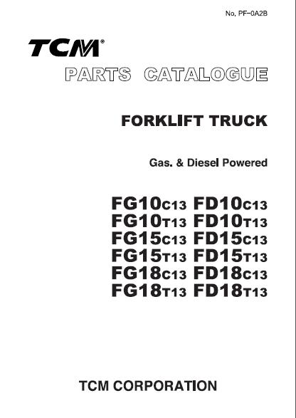 TCM ForkLift EPC - PCD-FG10BE  spare parts catalog<br><br>Aliexpress