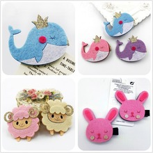2PCS New Baby dolphin Hairgrips Girls Hair Clips Cute lamb Hair Accessories Infant Headwear Hairpin Children rabbit Barrette J8(China)