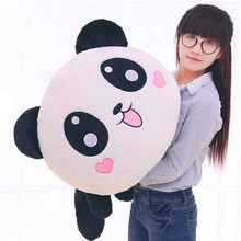 1Pcs Fahsion Cute Giant Panda Soft Plush Pillow Stuffed Animal Toy Doll Pillow Bolster Pillow Valentine's Day Gift Kids Gift(China)