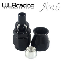 WLRING STORE- Black High Quality PTEF AN6 AN-6 Straight REUSABLE SWIVEL TEFLON HOSE END FITTING AN6 WLR-SL6000-06-021