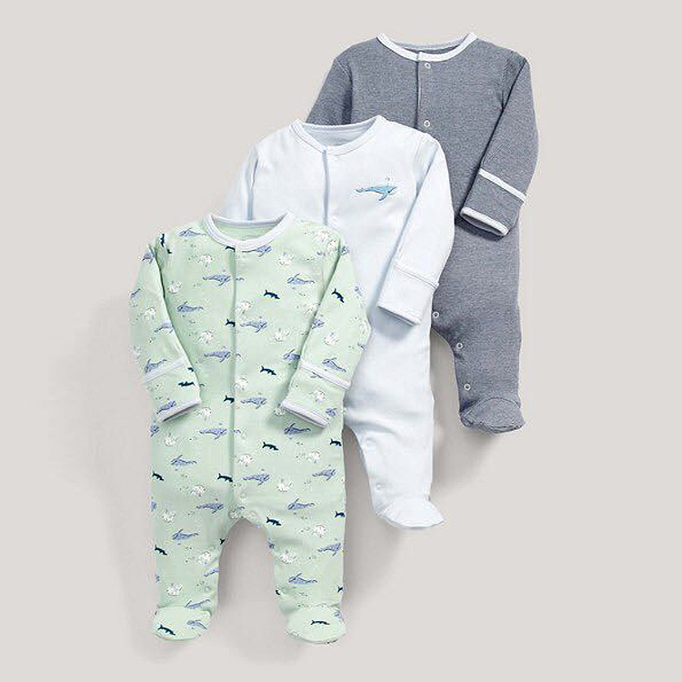 3pcs/lot 2017 Winter Baby Rompers Long Sleeves 100% Cotton Infant Coveralls Newborn Baby Boy Girl Clothes Baby Clothing