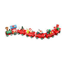 Christmas Gift  6 Pieces Wood Christmas Xmas Train Decoration brinquedos toys for children Diecasts & Toy Vehicles 2016.11