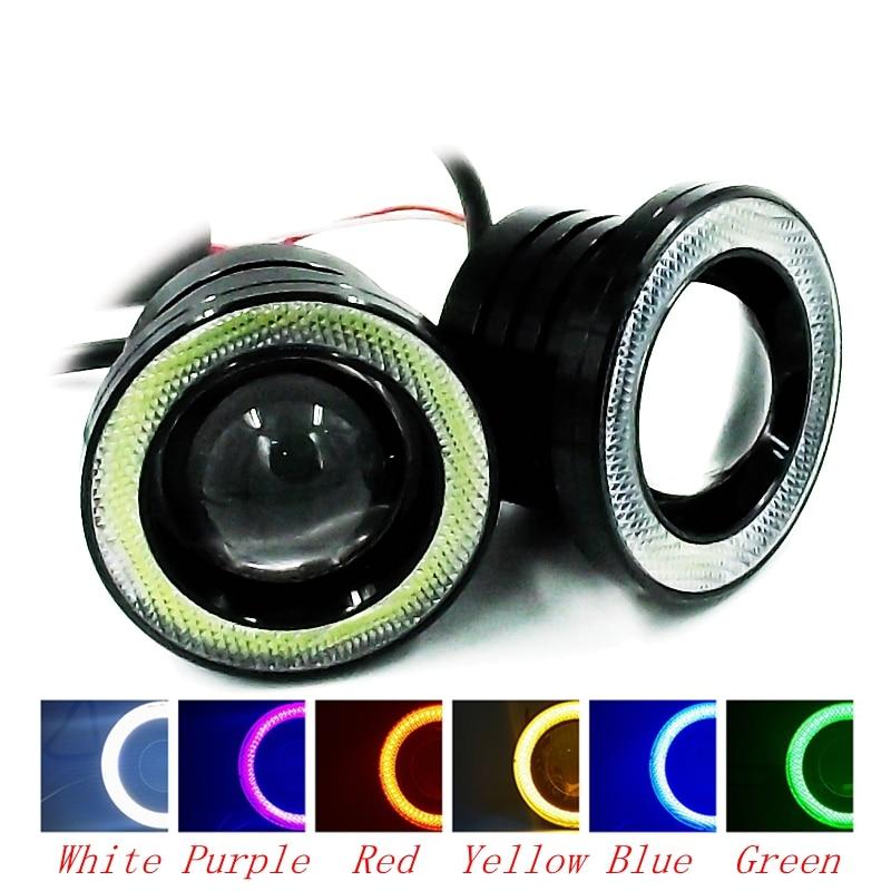 2Pcs/Set 3.5 Inch LED COB Angel Eyes Fog Light External Waterproof Auto Car DRL Daytime Running Lights With Lens Free Shipping<br><br>Aliexpress