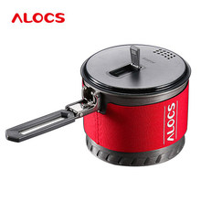 ALOCS S10 S11 Fast-Heating Outdoor Camping Cookware 1.3L/2L Camping Pot Heat Exchange with Bowl Cup(China)