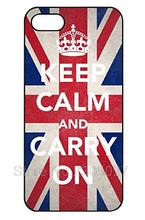 KEEP CALM AND CARRY ON British Flag cellphone case cover for Iphone 4S 5 5S 5C 6 Plus for Samsung galaxy S3 S4 S5 S6 Note 2 3 4