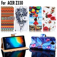 PU Leather Cell Phone Cases For Acer Liquid Z330 Z320 M330 Housing Bags Shell For Acer Liquid Z330 Wallet Flip Card Slot Cover