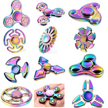 Buy Tri-Spinner Fidget Toys Pattern Hand Fidget Spinner Rainbow Fidget Spinner Metal ADHD Relieve Stress Toys New Gift sss34 for $5.39 in AliExpress store
