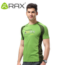 RAX Quick Drying Breathable Outdoor T Shirt Men Short Sleeve Shirt Breathable Ourdoor Sports Men UV proof T Shirt Men Cloth