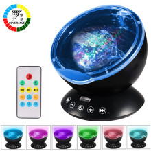 Coversage Ocean Wave Projector Remote Control TF Cards Music Player Speaker LED Night Light Aurora Master Projection Kids USB(China)