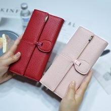 AOEO Card Holder Wallet Female Day Clutches Casual Quality PU Leather Hasp Luxury Women Portfolio Money Cash Bags Ladies Purse(China)