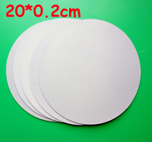 Free Shipping 10pc/lot 20*0.2cm Blank Sublimation Pads Round Shape High Quality DIY Printing Transfer Mouse Pad(China)