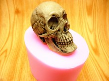 Halloween 3D Skull fondant cake silicone molds soap chocolate mould for the kitchen baking Free shipping