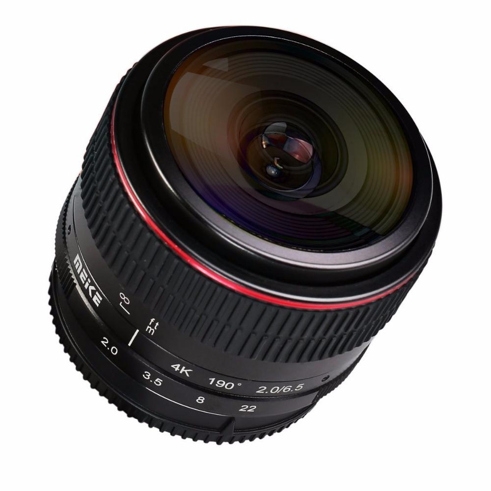 MEIKE MK-6.5mm F2.0 Fisheye Lens Fixed Focus Lens EF-M Mount Lense Large Aperture Auto Focus Lens For Canon DSLR Camera 6