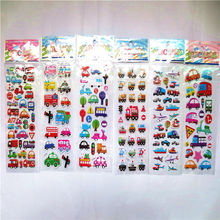 3pcs/lot Bubble Stickers 3D Cartoon car Puffy Sticker Classic Toys Scrapbook For Kids Children Gift Reward Sticker(China)